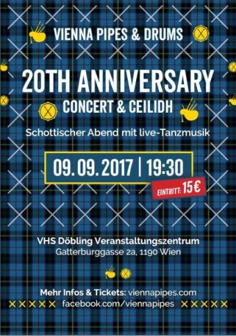 Vienna Pipes and Drums 20th Anniversary Concert @ VHS Döbling | Wien | Wien | Austria