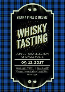 Vienna Pipes 2017 Whisky Tasting @ Pfarrsaal, Pfarre St. Florian | Wien | Wien | Austria